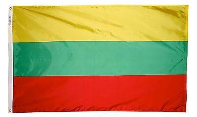 Annin Flagmakers Lithuania Flag, 3 x 5 ft., Nylon (195007)