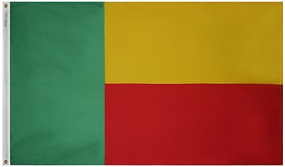 Annin Flagmakers Benin Flag, 4 x 6 ft., Nylon (192120)