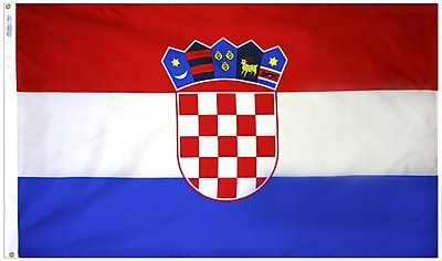 Annin Flagmakers Croatia Flag, 3 x 5 ft., Nylon (191836)