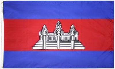 Annin Flagmakers Cambodia Flag, 4 x 6 ft., Nylon (191198)