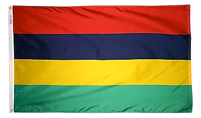 Annin Flagmakers Mauritius Flag, 4 x 6 ft., Nylon (195638)