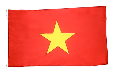 Annin Flagmakers Vietnam Flag, 4 x 6 ft., Nylon (199237)