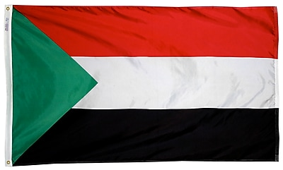 Annin Flagmakers Sudan Flag, 3 x 5 ft., Nylon (197843)