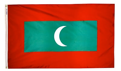 Annin Flagmakers Maldives Flag, 3 x 5 ft., Nylon (195351)