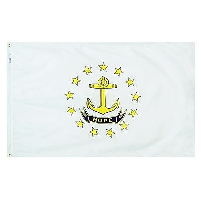 Annin Flagmakers Rhode Island State Flag, 4 x 6 ft., Nylon (144770)