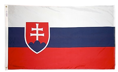 Annin Flagmakers Slovakia Flag, 3 x 5 ft., Nylon (221809)