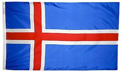 Annin Flagmakers Iceland Flag, 4 x 6 ft., Nylon (193574)