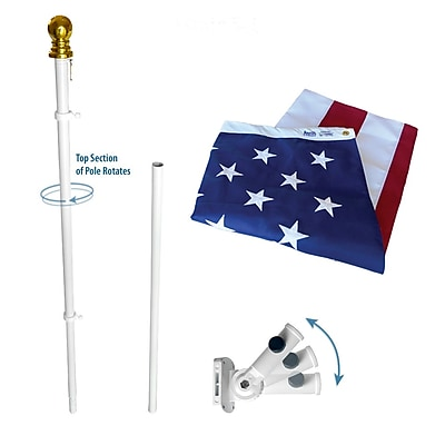 Annin Flagmakers American Flag and Flagpole Set (238)