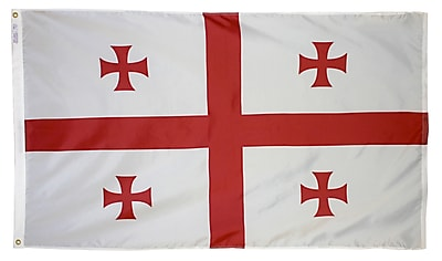 Annin Flagmakers Republic of Georgia Flag, 3 x 5 ft., Nylon (192880)