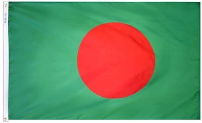 Annin Flagmakers Bangladesh Flag, 4 x 6 ft., Nylon (190567)