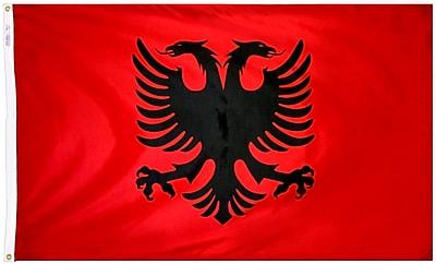 Annin Flagmakers Albania Flag, 3 x 5 ft., Nylon (190183)