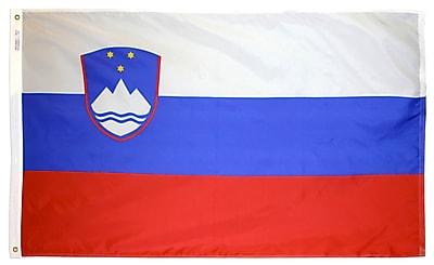 Annin Flagmakers Slovenia Flag, 3 x 5 ft., Nylon (221729)