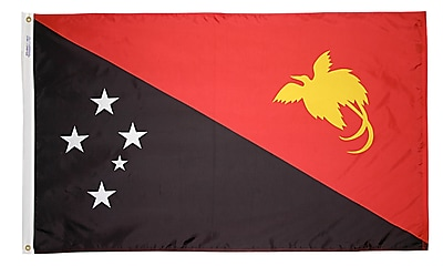 Annin Flagmakers Papua-New-Guinea Flag, 3 x 5 ft., Nylon (196645)