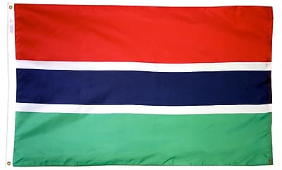 Annin Flagmakers Gambia Flag, 3 x 5 ft., Nylon (192827)