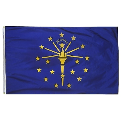 Annin Flagmakers Indiana State Flag, 3 x 5 ft., Nylon (141660)