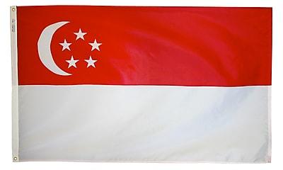 Annin Flagmakers Singapore Flag, 3 x 5 ft., Nylon (197393)