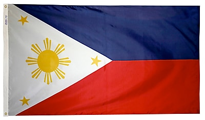 Annin Flagmakers Philippines Flag, 4 x 6 ft., Nylon (196757)