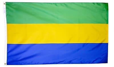 Annin Flagmakers Gabon Flag, 3 x 5 ft., Nylon (192756)