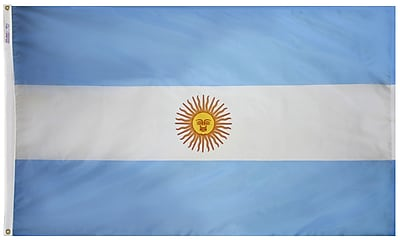 Annin Flagmakers Argentina Flag, 3 x 5 ft., Nylon (190325)