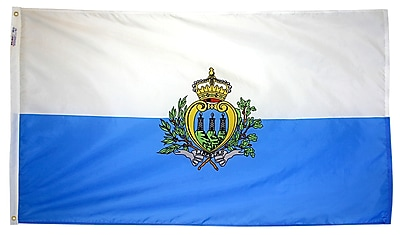 Annin Flagmakers San Marino Flag, 3 x 5 ft., Nylon (221573)
