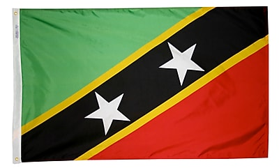 Annin Flagmakers St. Kitts & Nevis Flag, 3 x 5 ft., Nylon (221553)