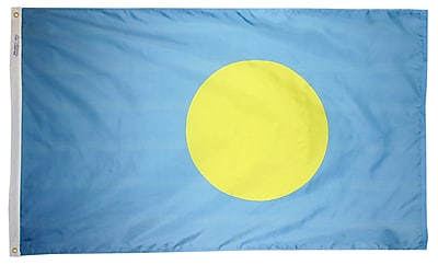 Annin Flagmakers Palau Flag, 3 x 5 ft., Nylon (221533)