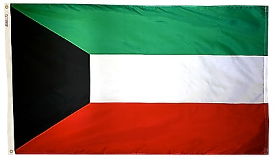 Annin Flagmakers Kuwait Flag, 3 x 5 ft., Nylon (194520)