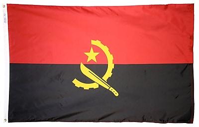 Annin Flagmakers Angola Flag, 4 x 6 ft., Nylon (190280)