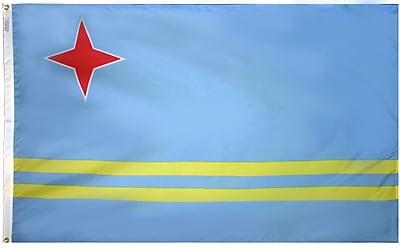 Annin Flagmakers Aruba Flag, 3 x 5 ft., Nylon (190368)