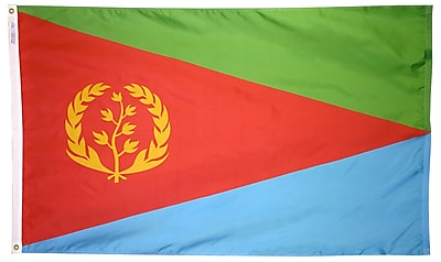 Annin Flagmakers Eritrea Flag, 4 x 6 ft., Nylon (192521)