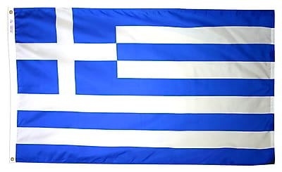 Annin Flagmakers Greece Flag, 4 x 6 ft., Nylon (193011)