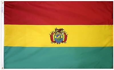 Annin Flagmakers Bolivia Flag, 3 x 5 ft., Nylon (190680)