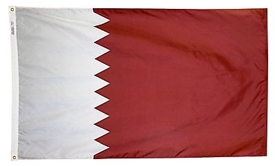 Annin Flagmakers Qatar Flag, 3 x 5 ft., Nylon (196877)