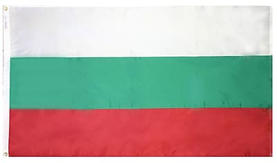 Annin Flagmakers Bulgaria Flag, 3 x 5 ft., Nylon (190913)