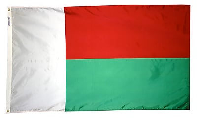 Annin Flagmakers Madagascar Flag, 3 x 5 ft., Nylon (195188)