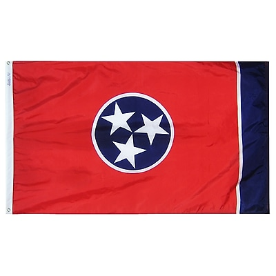 Annin Flagmakers Tennessee State Flag, 4 x 6 ft., Nylon (145170)
