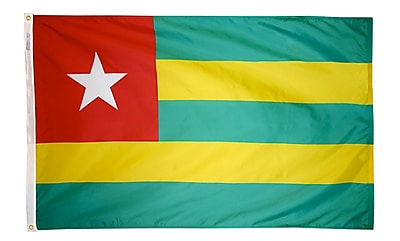 Annin Flagmakers Togo Flag, 3 x 5 ft., Nylon (198443)
