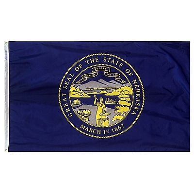 Annin Flagmakers Nebraska State Flag, 4 x 6 ft., Nylon (143270)