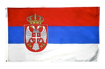 Annin Flagmakers Serbia & Montenegro Flag, 3 x 5 ft., Nylon (199412)