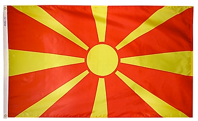 Annin Flagmakers Macedonia Flag, 4 x 6 ft., Nylon (195176)