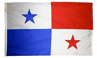 Annin Flagmakers Panama Flag, 4 x 6 ft., Nylon (196544)