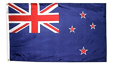 Annin Flagmakers New Zealand Flag, 3 x 5 ft., Nylon (196161)