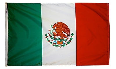 Annin Flagmakers Mexico Flag, 4 x 6 ft., Nylon (195709)