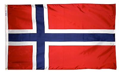 Annin Flagmakers Norway Flag, 3 x 5 ft., Nylon (196446)