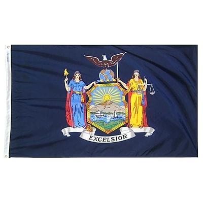 Annin Flagmakers New York State Flag, 3 x 5 ft., Nylon (143860)