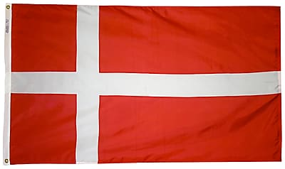 Annin Flagmakers Denmark Flag, 3 x 5 ft., Nylon (192188)
