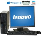 "Refurbished Lenovo M58 Sff Intel Core 2 Duo E8400 3.0Ghz 4Gb 160Gb Hard Drive Windows 10 Home Bundled With A 19"" LCD Monitor"