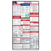 ComplianceSigns® 2018 New Jersey Labor Law Poster (with White Header)