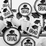 Creative Converting Graduation School Spirit White Party Supplies Kit (DTCBKWHT2A)