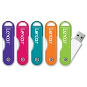 Lexar 16gb Twist Turn Jumpdrive 2.0 5 pack